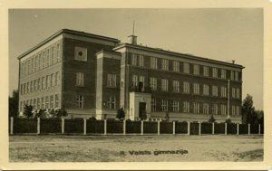 Arhitekts Indriķis Blankenburgs. Rīgas 2. Valsts ģimnāzija, 1931.g.. tagad — Rīgas Valsts vācu ģimnāzija. Arhīva foto.