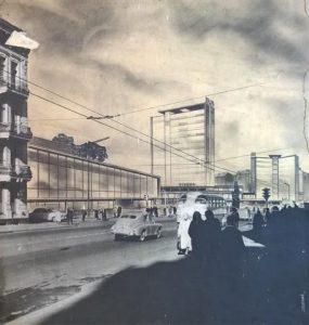 Arhitekts Ivars Strautmanis. Mets Dailes teātra apkārtnes attīstībai. 1961