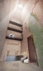 Konkursa projekts Kimmel kvartālam, 2018. Veicināšanas prēmija. Autori: Lauder Architects; Ainavu projektēšanas darbnīca Alps; Sarma & Norde Arhitekti