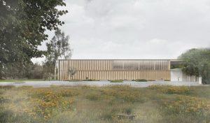Konkursa projekts Dabas tūrisma centram Ķemeros, 2017. gads, 1. vieta. Lauder Architects kopā ar ALPS