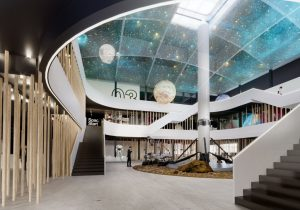 Konkursa projekts Kosmosa centram Cēsīs, 2017. gads, 1. vieta. Autori: Lauder Architects, ALPS, Acitektura, CMB