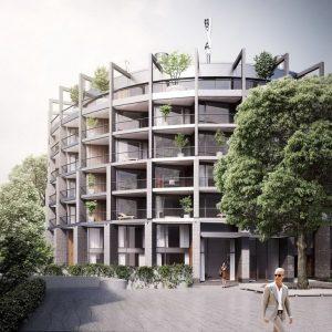 """Ilgtspējīgākais projekts Latvijā 2018. 1.vieta – kategorijā """"Komercobjekts"""" daudzdzīvokļu ēka """"River Breeze Residence"""", pasūtītājs """"Klīversala"""", projekts Ventis Didrihsons, """"Didrihsons un Didrihsons"""", būvnieks """"LNK Industries""""."""