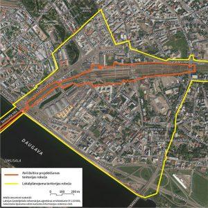 Rail Baltica projektēšanas un būvniecības teritorija un lokālplānojuma teritorija Rīgas pilsētas centrālajā daļā. Autori: Grupa 93