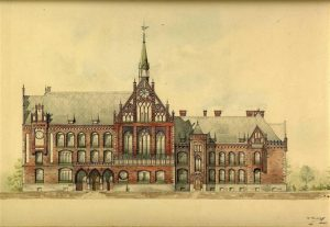 Vilhelms Bokslafs (1858–1945). Rīgas Biržas komercskola (tagad Latvijas Mākslas akadēmija). 1902