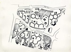 """Arhitekti Gunārs Melbergs, Ruta Paikune, Menards Medinskis u. c. Dzīvojamais rajons """"Purvciems"""" Rīgā. 1965"""