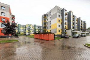 Biķerziedi — kvartāls starp Bajāru, Tālivalža un Biķernieku ielu. Arhitekti: Tectum — Raivis Zlaugotnis, Uldis Bērziņš