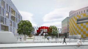 3+1 arhitektid — Ilemistes stacijas konkursa projekts, 2014