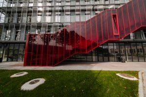 Red Line, ražošanas ēkas pārbūve par biroju ēku Bukultu iela 11, Rīga, pasūtītājs Dambis birojs, projekts NRJA, būvnieks Selva Būve, būvuzraudzība BUSHMANIS