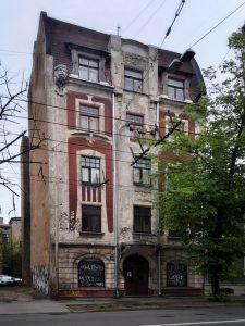 Eižens Laube. Kaminciusa nams Tallinas ielā 23, 1901, kopā ar Konstantīnu Pēkšēnu