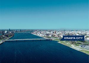 Krasta City - novietne pie Salu tilta