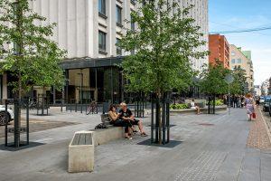 Viesnīcas skvērs Dzirnavu ielā — Zala Landskape Architecture, Arhis arhitekti, E.Daniševska birojs